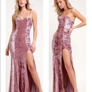 Lulus Simply Elegant Blush Pink Sequin Maxi Dress